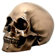 Bronze Skull Statue Sculpture Figure - WE SHIP WORLDWIDE