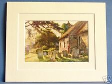 ST. MARTIN'S CHURCH  CANTERBURY VINTAGE DOUBLE MOUNTED HASLEHUST PRINT 10X8 RARE