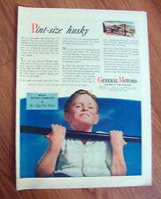 1944 GM General Motors Ad   Pint-Size Husky