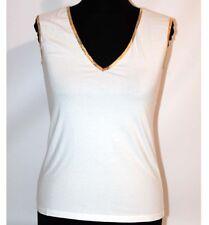 Classe maglia bianca mappa t shirt canotta smanicata Alviero Martini M L XL