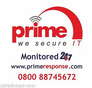 REPLACEMENT STICKER  FOR A BURGLAR ALARM BELL BOX EXCELLENT SECURITY DETERRENT