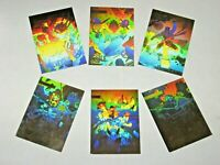 1992 X-MEN IMPEL GOLD HOLOGRAM INSERT 5 CARD SET MARVEL JIM LEE + MAGNETO PROMO!