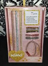 (1) Scunci Glitter and Flair Hair Set - Headbands Bobby Pins Barrettes Bracelet
