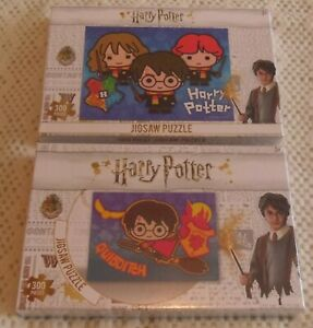 2 x New & Sealed Harry Potter 300 Piece Jigsaw Puzzles Hermione & Ron Weasley