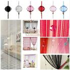 Bead String Curtain Beads Wall Panel Fringe Home Room Divider Window Blind Decor