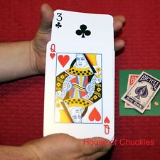 Jumbo Stripper Magic Card Trick Bicycle Deck - Blue or Red Back - Shaved