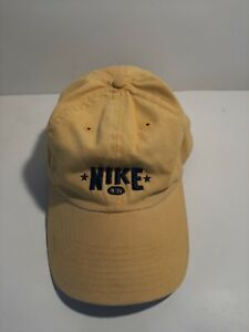 Nike Yellow Hat One Size Fits All Adult Adjustable  Cotton