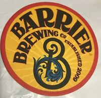 Barrier Brewing Co Est. 2009 Oceanside NY Craft Beer Coaster IPA Brewed In NY