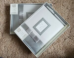 """2 Pcs - C.R. Gibson 25 YEARS TOGETHER - 9 3/4 x 7"""" Guest Book w/Pen - NEW!"""