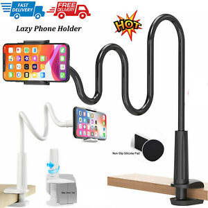 27 Inch Flexible Gooseneck Tablet & Phone Stand with Adjustable Mount Black H4N5