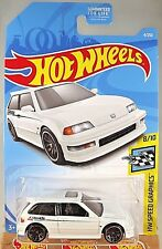 2019 Hot Wheels #4 HW Seed Graphics 8/10 '90 HONDA CIVIC EF White (Greedy Tampo)