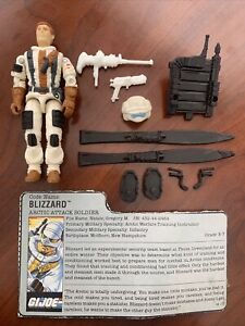 GI Joe 1988 Blizzard (v1) Complete With File Card