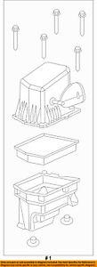 Jeep CHRYSLER OEM Cherokee Air Cleaner Box-Bottom Lower Housing Body 52022352AD