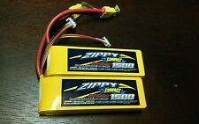 2 New Zippy Compact 1500mAh 3S 11.1V 25C 35C Lipo Battery Pack RC XT60 XT-60 USA