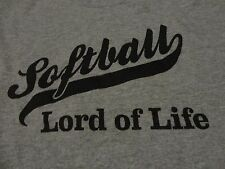 Softball Team CHURCH League Lord of Life Jersey T Shirt FREE Shipping size Large