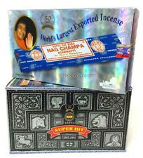 """Nag Champa & Super Hit"" Satya Incense (2 Dozen) (12x15gm)x2 360g 2 BOXES"