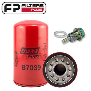 B7039 Baldwin Oil Filter + Magnetic Sump Plug Ford F250, F350 7.3L T/Diesel