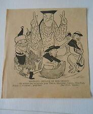 Nouveaux Chevaux de Bois Chinois Humour image print 1900