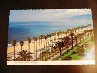 Santa Monica California CA Coastline Beach Pacific Ocean Los Angeles Postcard