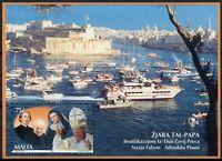 Malta Pope John Paul II Stamps 2001 MNH Visit Religion Historical Figures 1v M/S