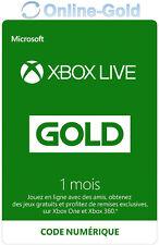 Abonnement Xbox Live Gold 1 Mois Code Digital - Microsoft Xbox One 360 Clé EU/FR