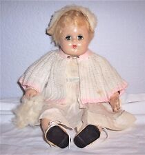 "Antique 11"" Madame Alexander Bitsey Character Baby Doll Composition Cloth Blonde"