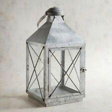 """Lantern Silver Galvanized """"Bennett""""  NWT Pier 1"""