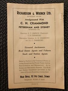 Richardson & Wrench Estate Agents - 1954 Advertisement