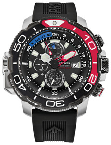 New Citizen Promaster Aqualand Black Dial Rubber Band Men's Watch BJ2167-03E