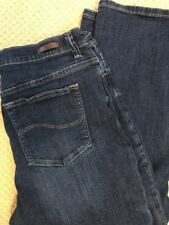 LEE Relaxed Fit Womens Blue Denim Jeans Size 14 Long High Waist Cotton Stretch