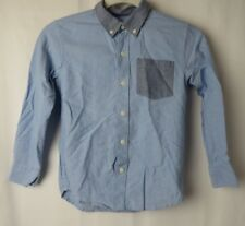 Old Navy Boys Oxford Shirt Button Down Collar Long Sleeve Blue Size S 6/7  #7431