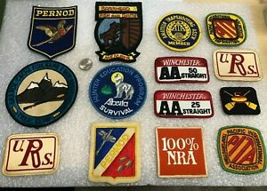 Lot of Vintage Canadian US Hunting Shooting Patches Rod and Gun Club Patch