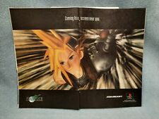 Final Fantasy VII 7 two page Playstation PS1 magazine print ad/ promo/ art 1997