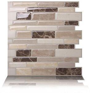 Tic Tac Tiles 3D Peel and Stick Wall Tiles Polito Bella(30cm x 30cm x 5 sheets)