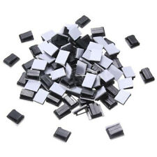 100 Pcs Black Plastic Wire Tie Rectangle Cable Mount Clip Clamp Self-adhesive LW