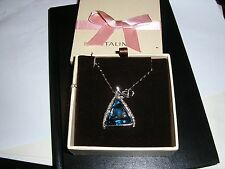 Italina Swarovski Crystal Stellux Blue Crystal Necklace