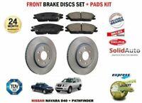 FOR NISSAN D40 NAVARA + PATHFINDER 2005-> FRONT 295mm BRAKE DISCS SET + PADS KIT