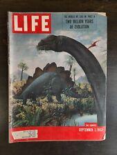 Life Magazine September 7 1953 Dinosaurs Stegosaurus Brontosaurus Prehistoric Oc