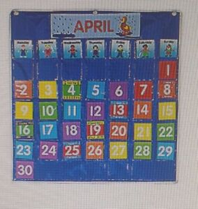Calendar Pocket Chart Classroom or Home school