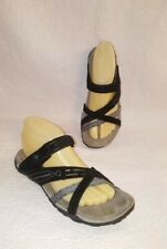 MERRELL Womens Size 7 Black Leather Strappy Slide Sandals