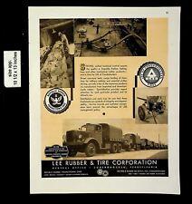 1943 Lee Rubber & Tire Corp War Trucks  Vintage Print Ad 19894