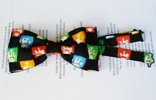 THE BEATLES FABRIC BOW TIE DOUBLE LAYER TUXEDO TIED ADJUSTABLE STRAP HANDMADE