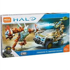 MEGA CONSTRUX HALO FORGEHOG VS. BANISHED GOLIATH 654 PIECES 2 FIGURE AGE8+ FVK36