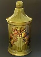 """Los Angeles Potteries Canister 1965 California USA Pottery Green 11 1/2"""""""