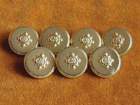 Set of 7 Designer Gold color Metal Buttons Blazer Jacket #560