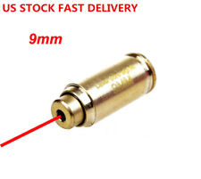 US 9mm Red Dot laser Bore Sighter Brass Calibrator Cartridge W/battery 4 hunting
