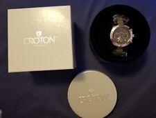 Croton Vortex Chronomaster #CC311355SSGY Gray Dial Quartz Men's Watch