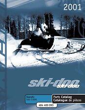 Ski-Doo parts manual catalog book 2001 SKANDIC 500F & 2001 SKANDIC 600