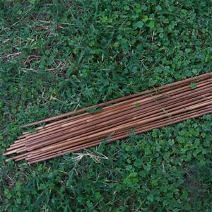 """32"""" Bamboo Shaft for DIY Arrow with Nocks Bow Arrow Hunting Target Practice"""