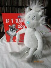 """Kohl's Cares Dr S If I Ran the Zoo Dr Seuss Gray Cat Natch19"""" Plush  & Book"""